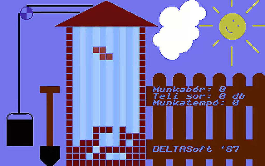 Komuves Kelemen Tetris játék Magyar fejlesztésű Játékok