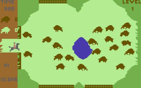 Buffalo Roundup - Magyar Fejlesztésű Játékok - C64