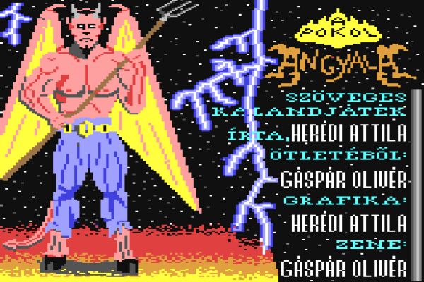 A Pokol Angyala - C64 - Magyar Fejlesztésű Játékok