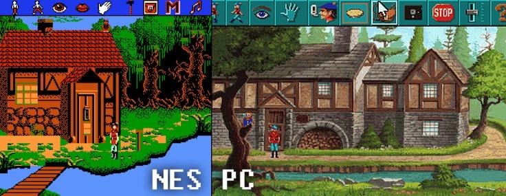 Kings Quest 5 - PC compare NES - Magyar Fejlesztésű Játékok