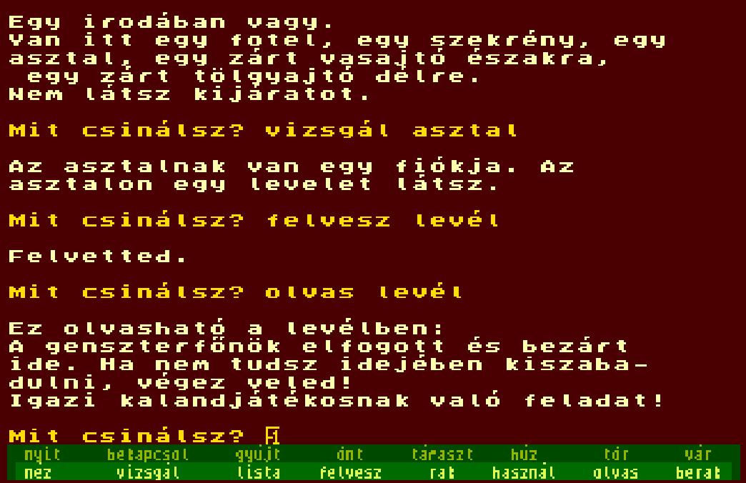 Gengszter - Tihor Miklós - Magyar Kalandjáték - Spectrum