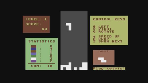 Tetris - Rátkai c64 magyar játék