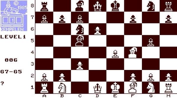 Kemplen chess - Magyar fejlesztésű sakk játék Commodore 64